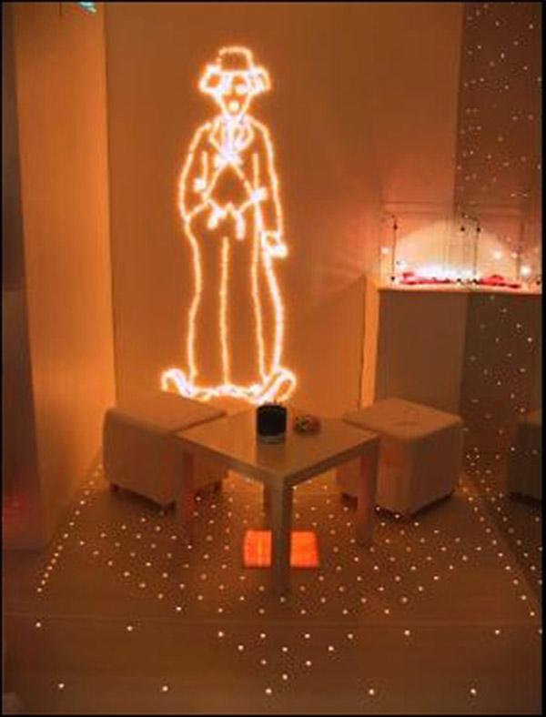 décoration de vitrine LED lumineuse