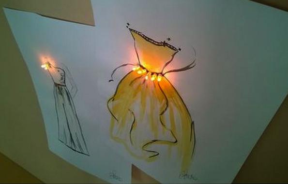 De Vinci FabLab-LED sans fil + panneau conducteur d'électricité