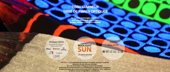 Tissu lumineux tissé de fibres optiques : Nouvelle technologie lumineuse pour vous démarquer visuellement de façon moderne, originale et innovante
